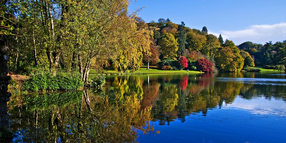 View from the Grotto, Stourhead