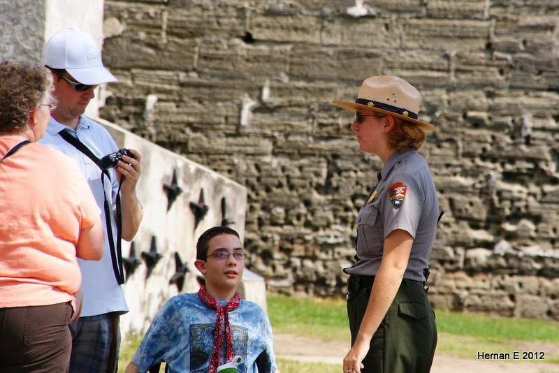 DOROTHY. JOEY, ANDY AND PARK RANGER