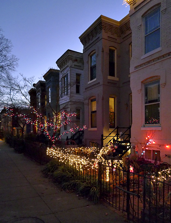 Holiday lights on Capitol Hill
