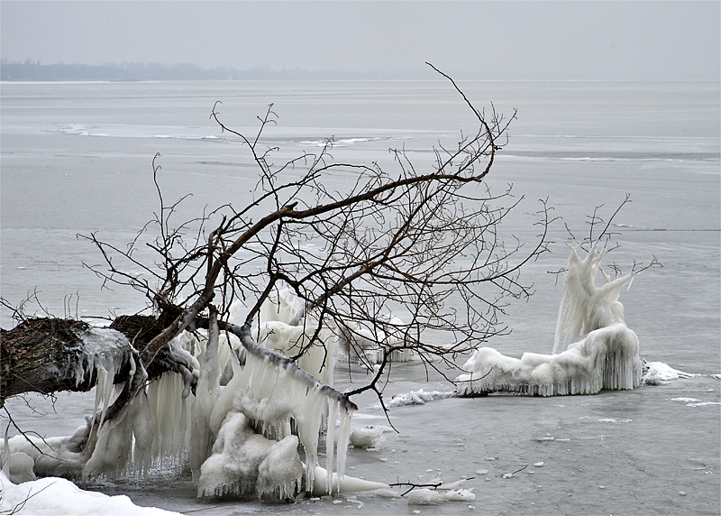 Lake Balaton in winter