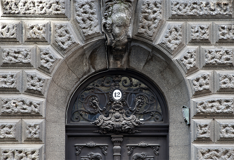 The door at No. 12