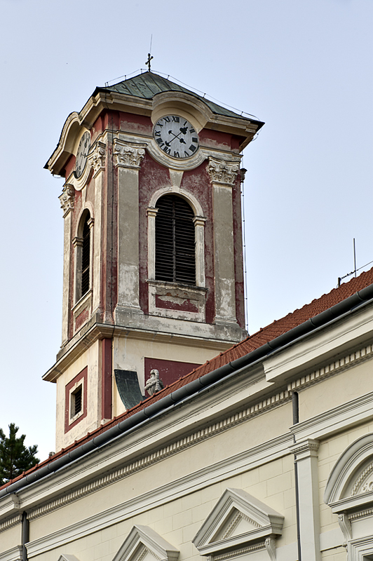Colorful church steeple