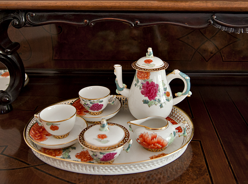 Breakfast serice for two, Chinese decoration