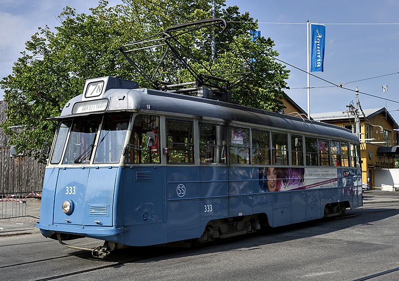 Newer old tram on Djurgården