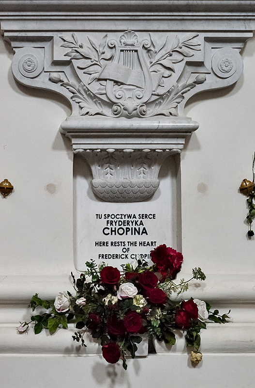 Holy Cross Church, Here rests the heart of Frederick Chopin