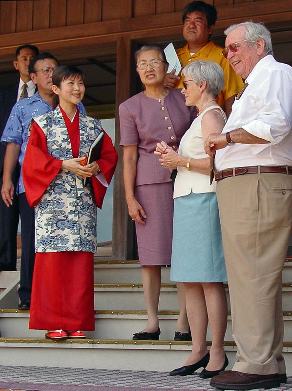 Ambassador and Mrs. Baker at Shuri