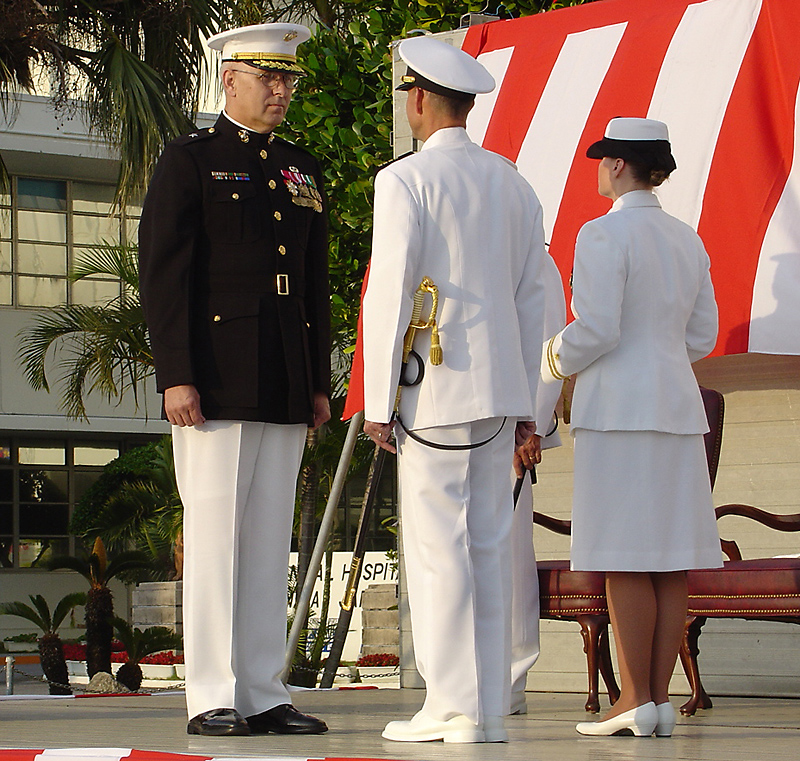 Naval change of command