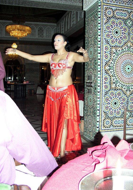 049 Marrakech - farewell dinner - Bring on the dancing girls.JPG
