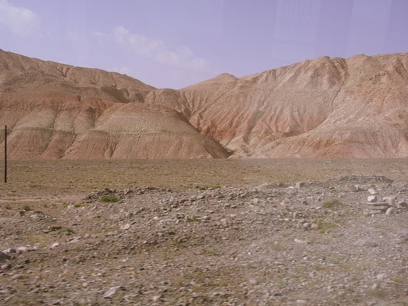 Magnificently colored hills - enroute to Irkeshtam Pass