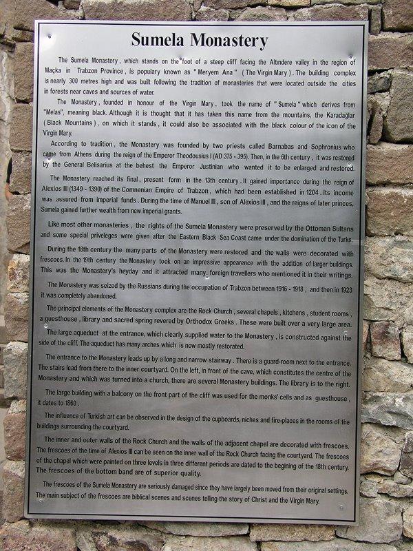 Enroute to Samsun, Turkey - Sumela Monastery