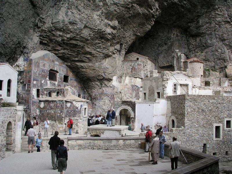 Near Trabzon, Turkey - Sumela Monastery - interior buildings