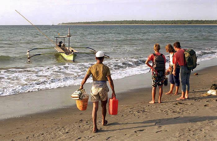 Embarking for Gili Air at Bangsal Harbour, Lombok