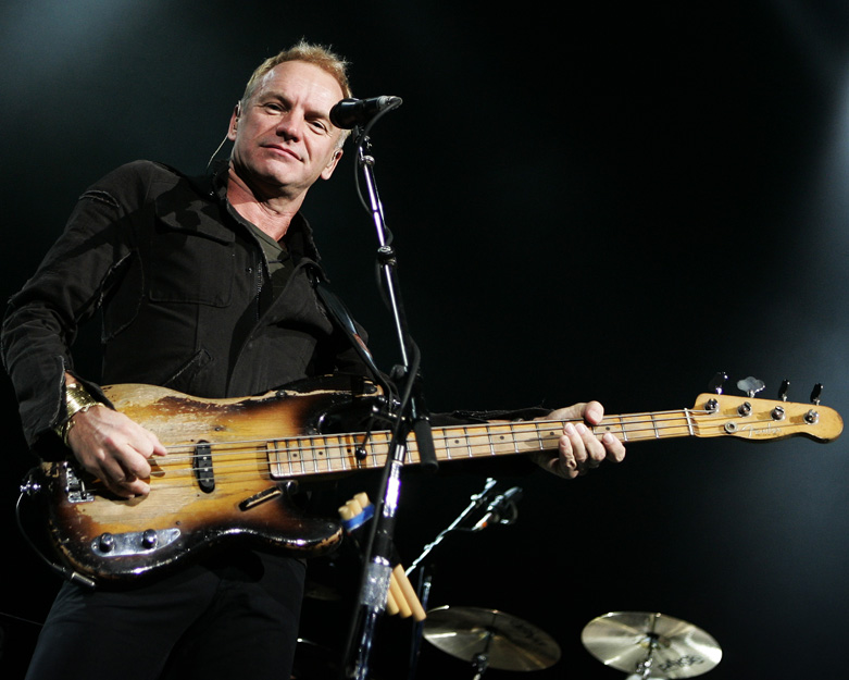 Sting gives me a look
