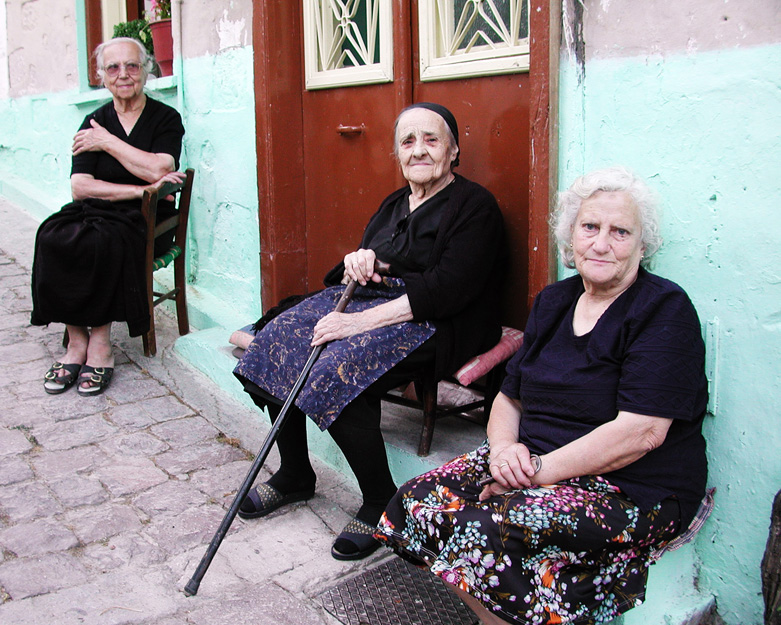Sunday night on the island of Lesbos