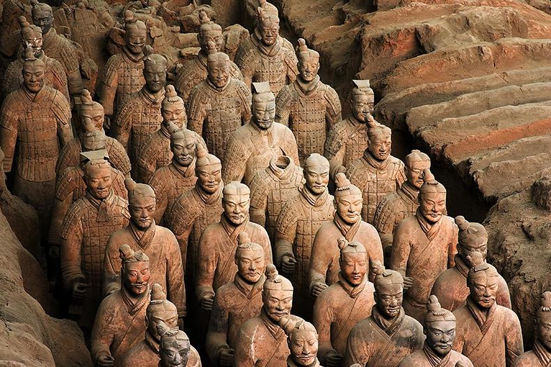 china, xian, terra cotta warriors 2004