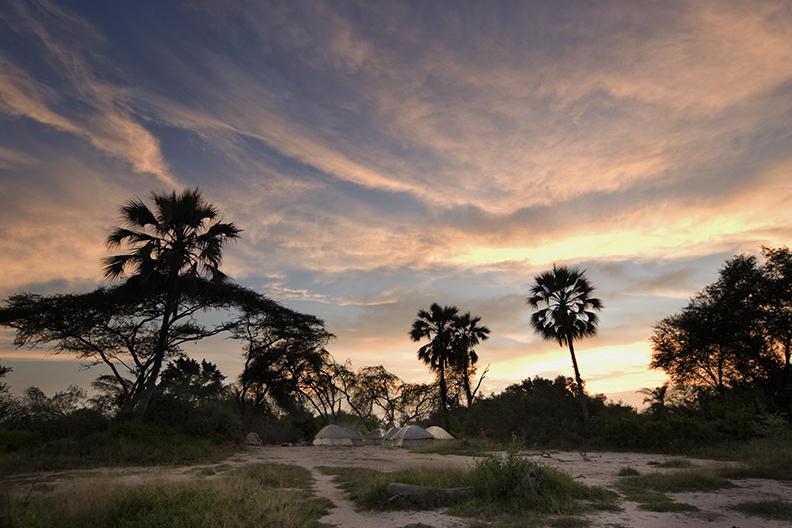 Okavango Delta, campsite
