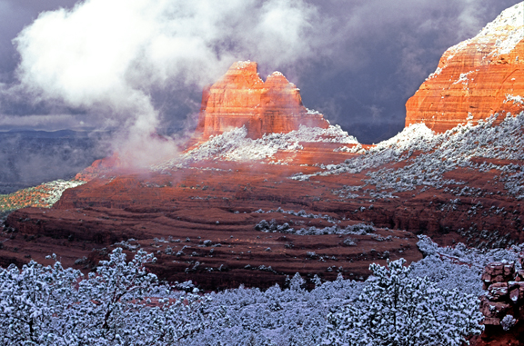 (SED2) Winter at Schnebly Hill, Sedona, AZ