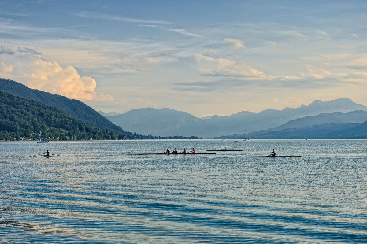 Evening Rowers on Attersee