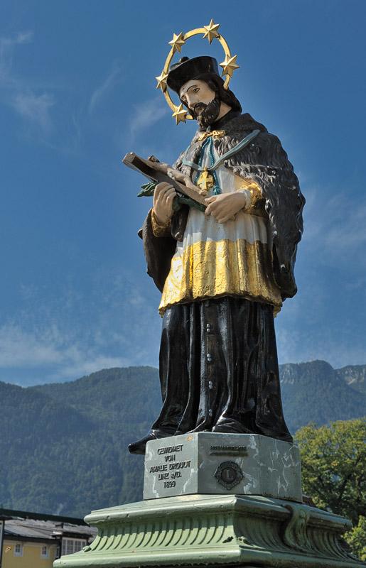 Statue on Bridge over Traun
