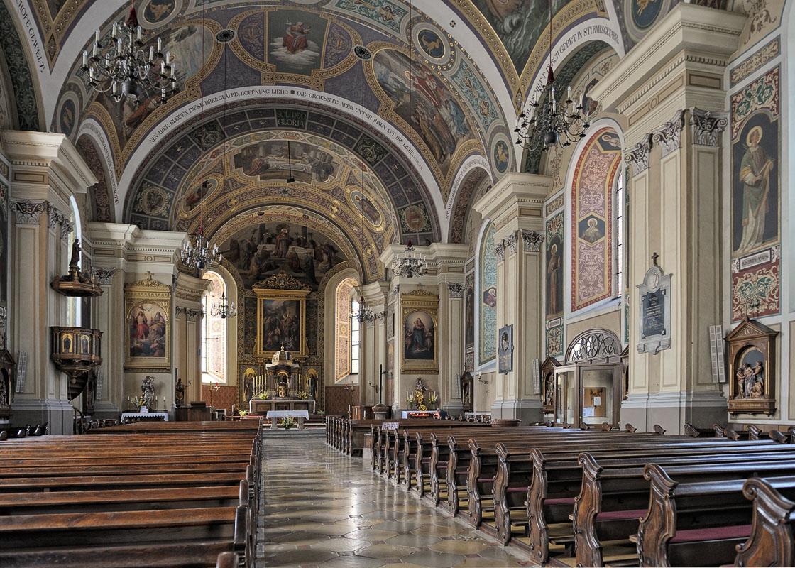 Bad Ischl church Interior