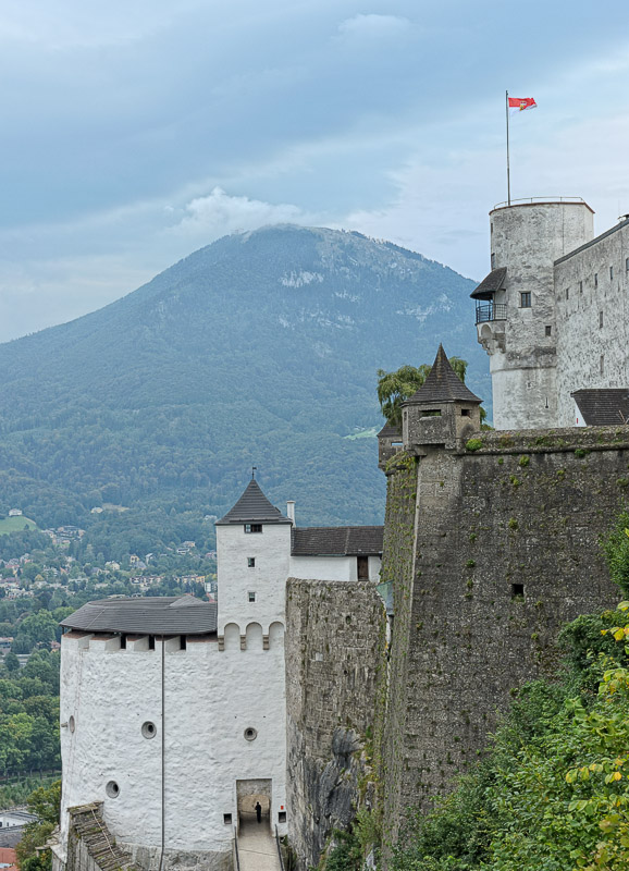View East from the Western Scenic Outlook  at the Salzburg Castle