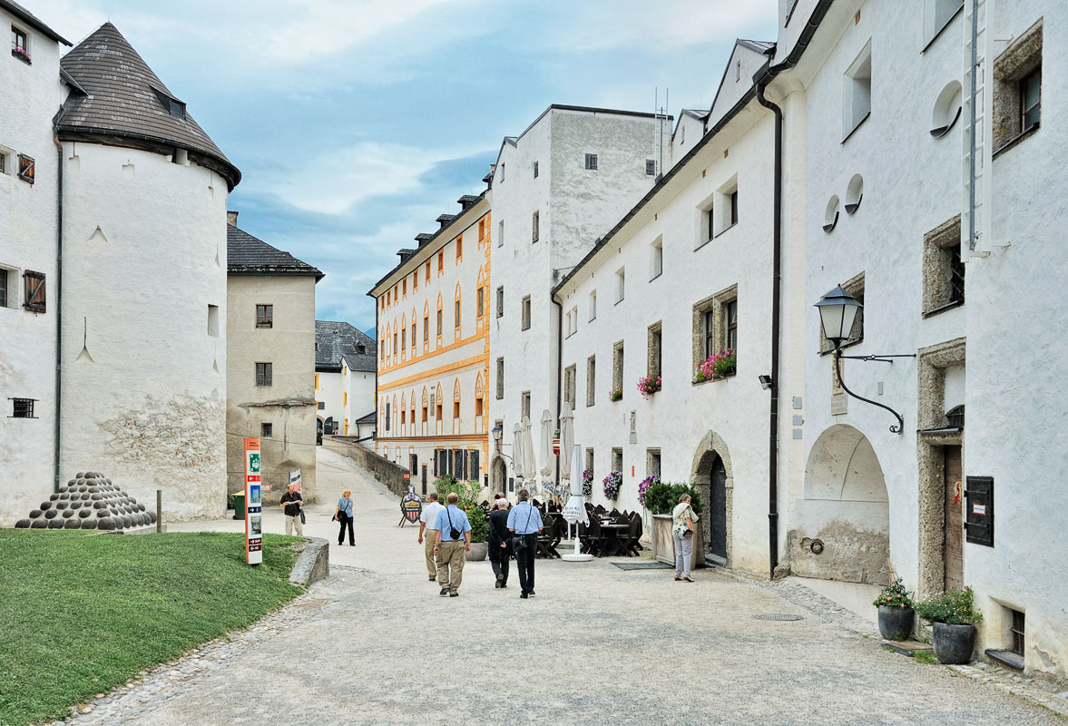 In the Salzburg Castle Courtyard