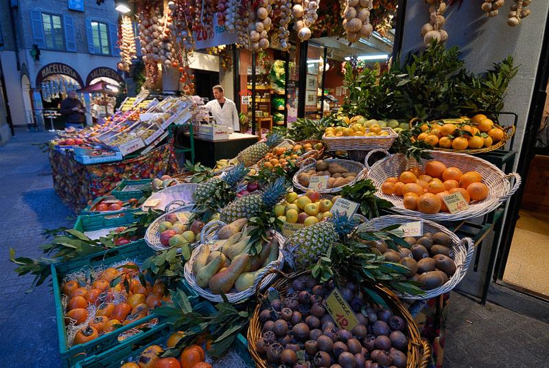 Fruit Market at Dusk