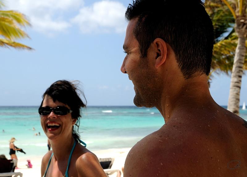 Nikki And Jon Share A Laugh