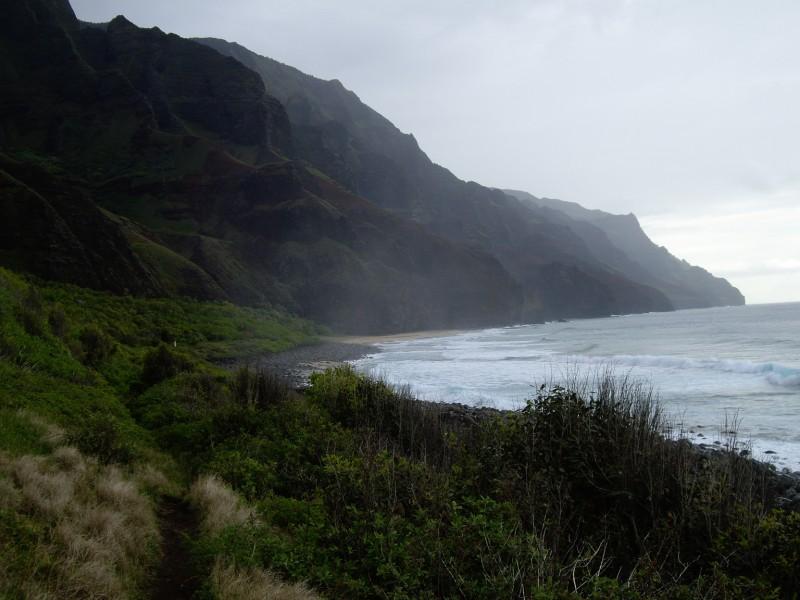 arribant a Kalalau Beach, fi de ruta
