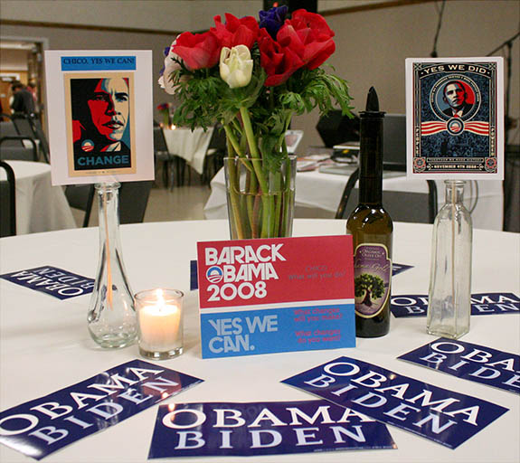 Obama Ball table setting