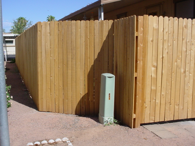 the new fence at Mikes