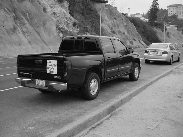 green truck club<br>at the Malibu beach