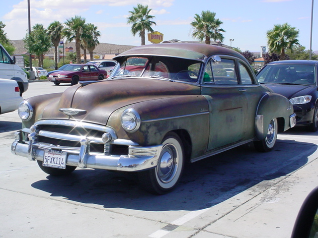 1950 brown Chevy <br>two door sedan