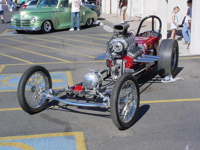 dragster at the door