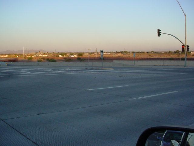 Gilbert road looking southwest