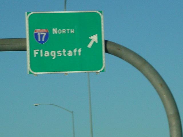 north on I 17 freeway