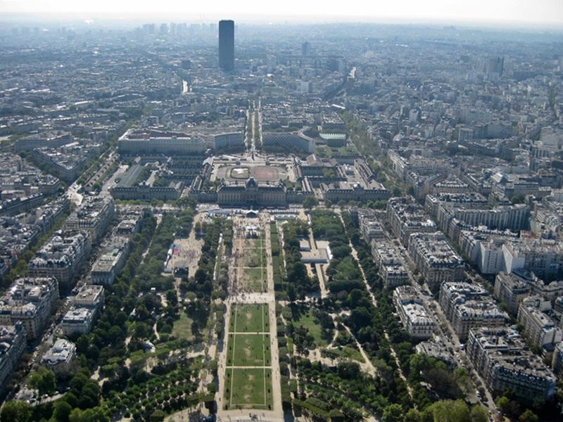 Parc du Champ de Mars. Vista desde la Tour Eiffel
