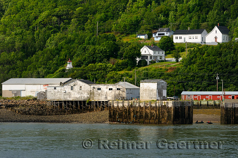 Small fishing village of Victoria Beach at Digby Gut on the Bay of Fundy Annapolis Basin Nova Scotia
