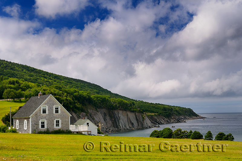Small village of Capstick at the north tip of Cape Breton Island Nova Scotia