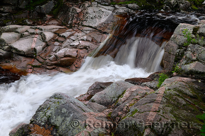 Upper Mary Ann Falls and river in the wilderness of Cape Breton Highlands National Park