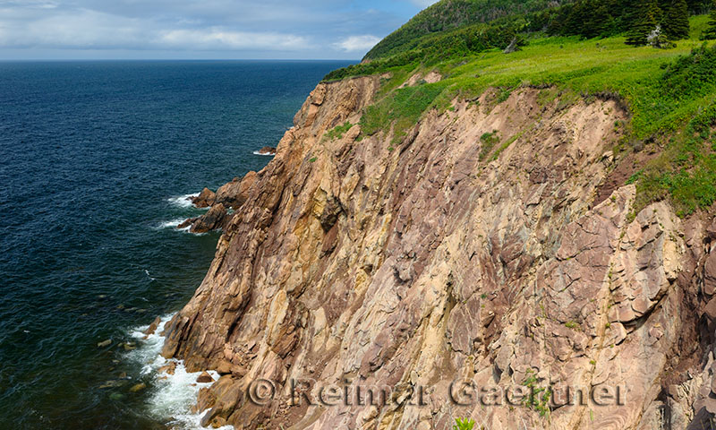 Steep cliffs at Veterans Monument Cabot Trail Cape Breton Highlands National Park