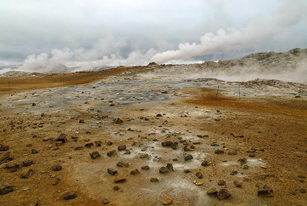 Namafjall, earth in fire.