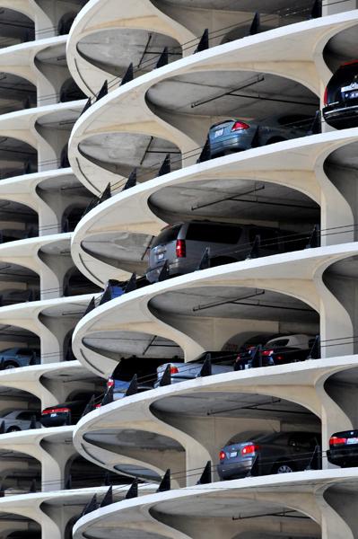 Round, car storage building
