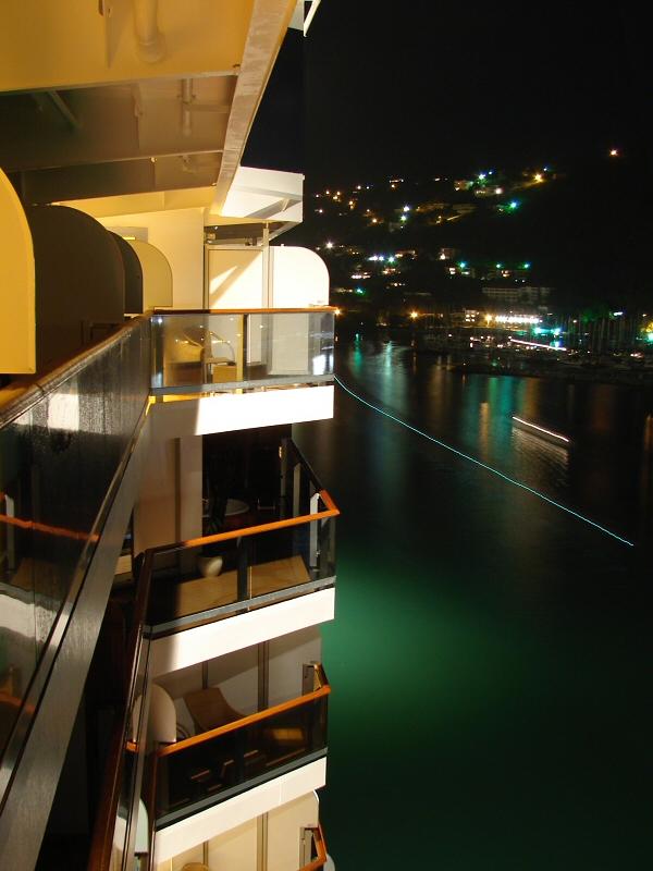 Night view from my veranda at Tortola