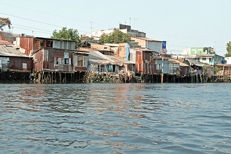 Riverview homes just outside Saigon.