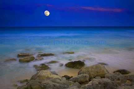 Cancun Moonlight Mexico