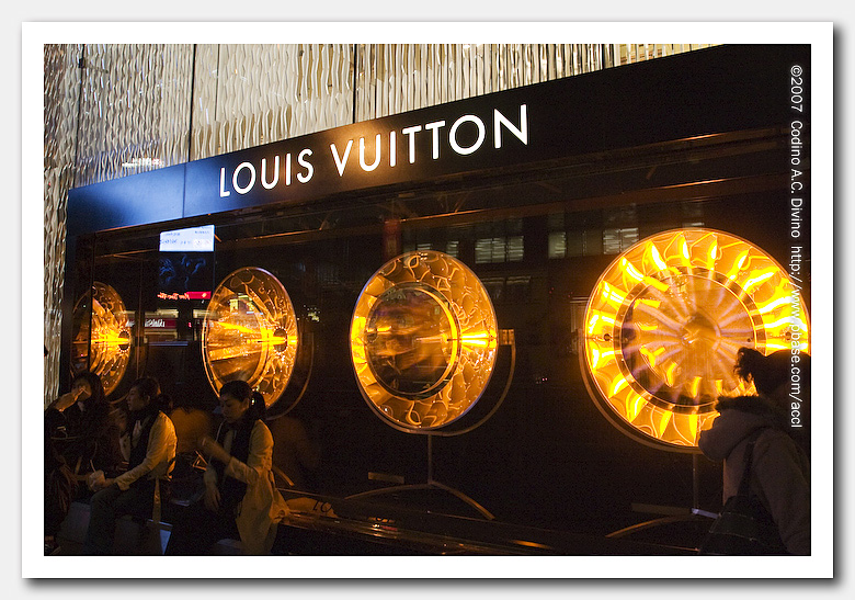LV - famous for a reason - what a great design this window is