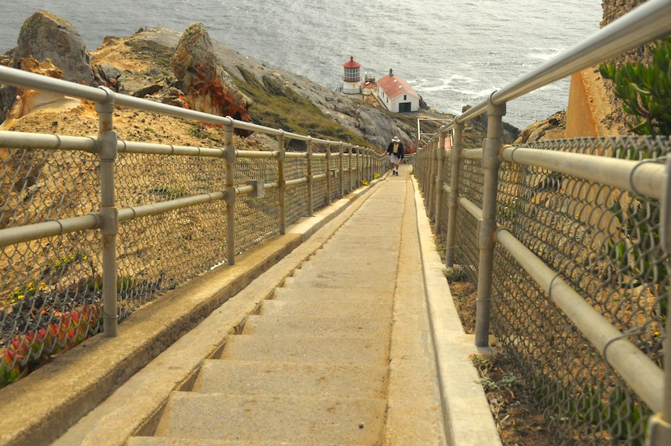 Ken Rockwell on the 308 Steps of the Pt. Reyes Lighthouse