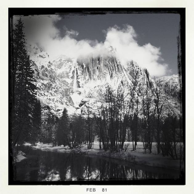 The Hipstamatic Version of Winter Over Yosemite