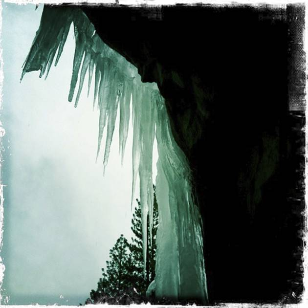 Icicles at the Entrance to the Wawona Tunnel - Hipstmatic